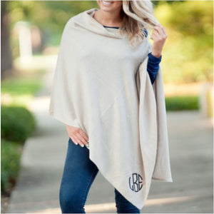 Creme Chelsea Poncho (Lead Time 2 Weeks)