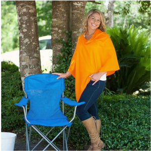 Orange Chelsea Poncho (Lead Time 2 Weeks)