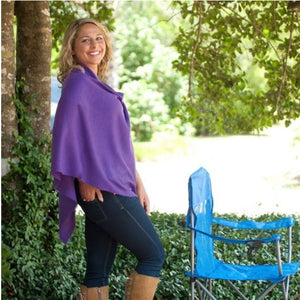 Purple Chelsea Poncho (Lead Time 2 Weeks)