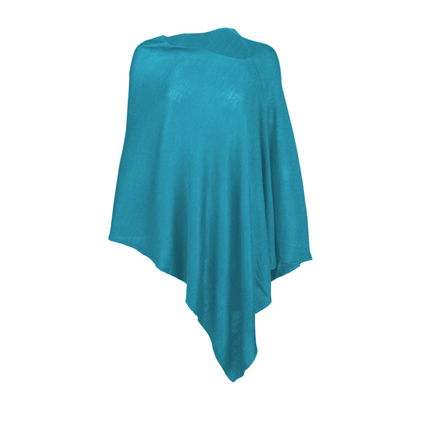 Teal Chelsea Poncho (Lead Time 2 Weeks)