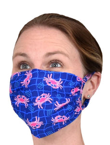 FACE MASK - HOT PINK CRAB