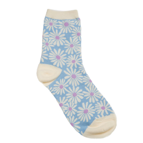 Daisy Sock: Blue