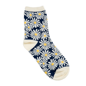 Daisy Sock: Navy