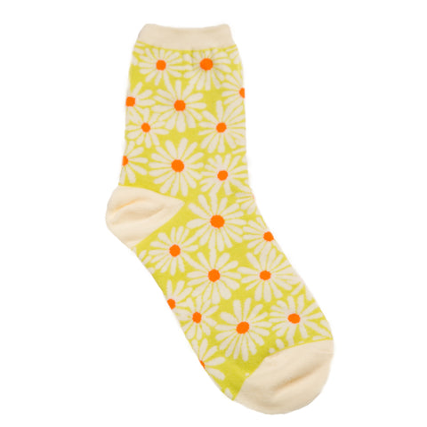Daisy Sock: Yellow