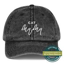 Load image into Gallery viewer, Cat Mama | Embroidered Vintage Cotton Twill Cap