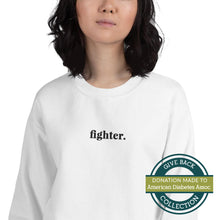 Load image into Gallery viewer, Fighter | Embroidered Crew Neck Sweatshirt