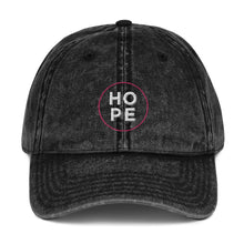 Load image into Gallery viewer, HOPE | Embroidered Vintage Cotton Twill Hat