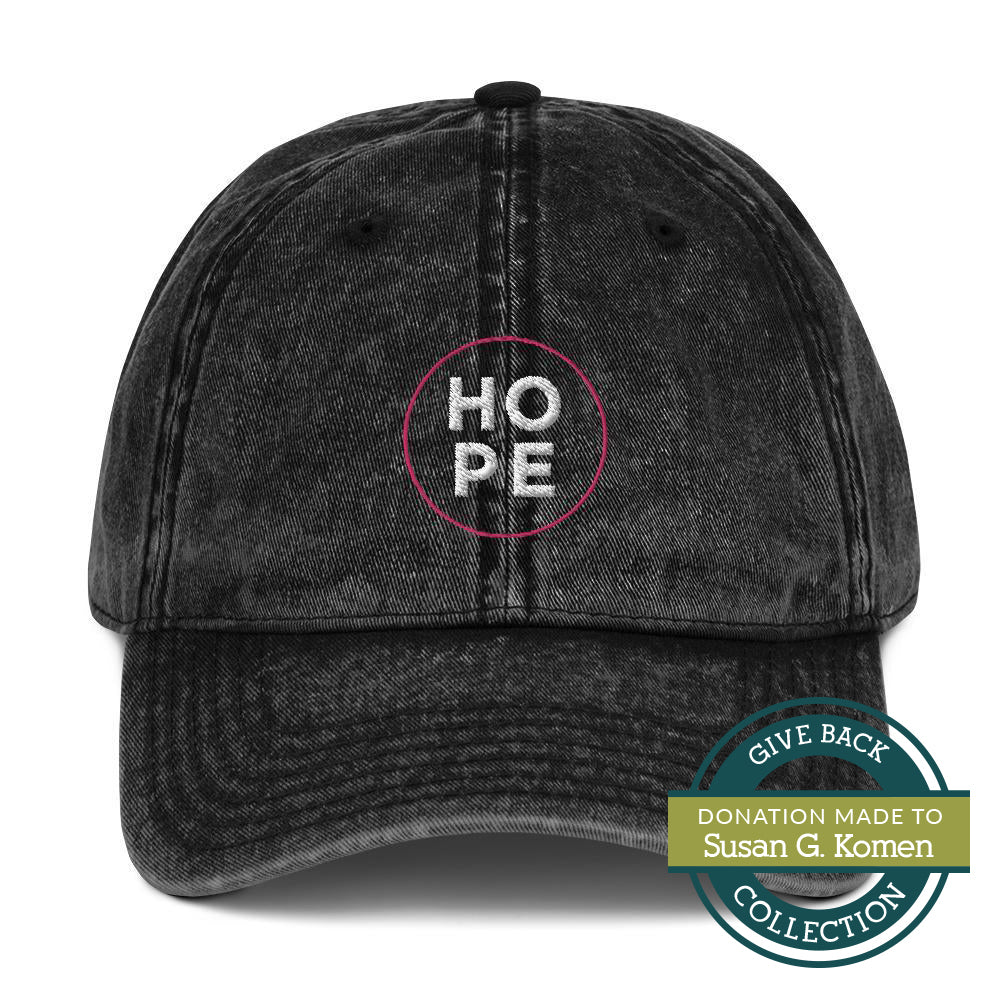 HOPE | Embroidered Vintage Cotton Twill Hat