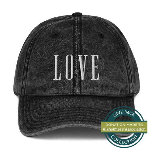 LOVE | Embroidered Vintage Cotton Twill Hat