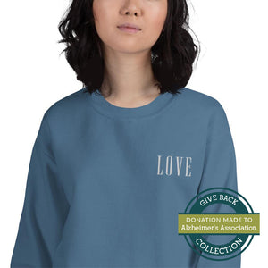 LOVE | Embroidered Crew Neck Sweatshirt