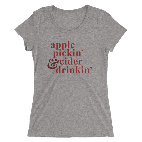Apple Pickin' & Cider Drinkin' | Crew Neck T-shirt