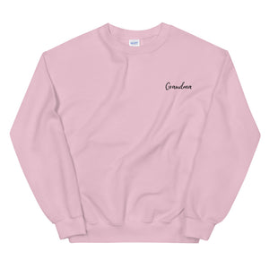 Grandma | Embroidered Crew Neck Sweatshirt