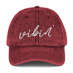 Vibin' | Embroidered Vintage Cotton Twill Hat