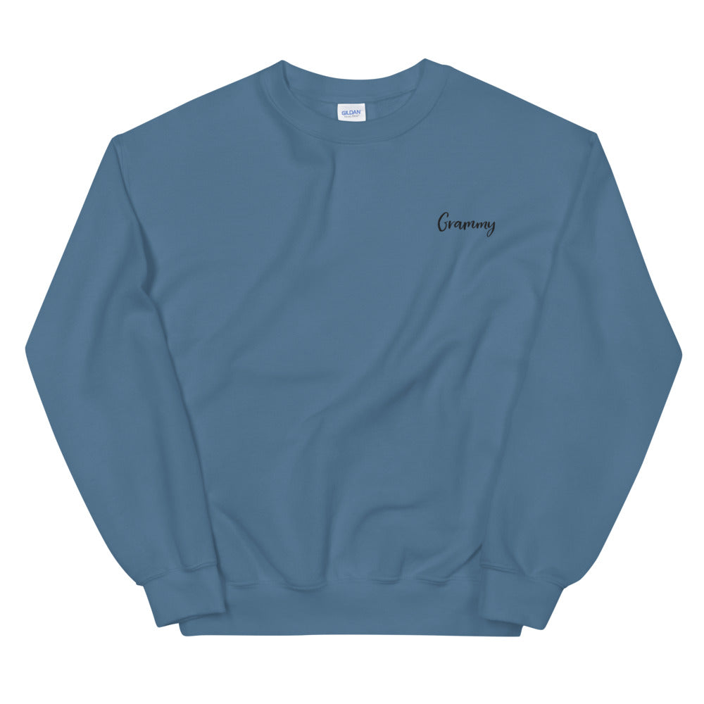 Grammy | Embroidered Crew Neck Sweatshirt