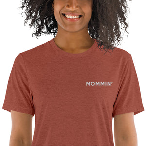 Mommin' | Embroidered Tri-blend T-Shirt