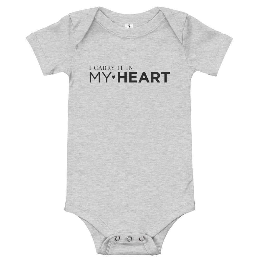 I carry it in my heart | Baby onesie 2