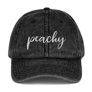 Peachy | Embroidered Vintage Cotton Twill Hat