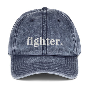 Fighter | Embroidered Vintage Cotton Twill Hat