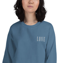 Load image into Gallery viewer, LOVE | Embroidered Crew Neck Sweatshirt