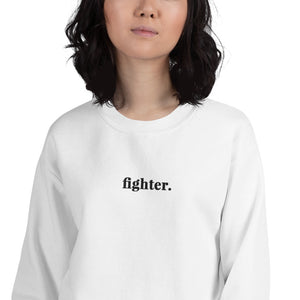 Fighter | Embroidered Crew Neck Sweatshirt