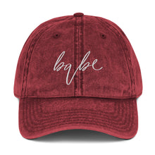 Load image into Gallery viewer, Babe | Embriodered Vintage Cotton Twill Cap