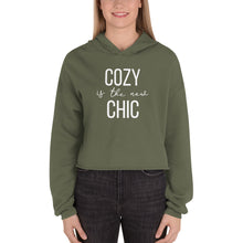 Load image into Gallery viewer, Cozy Is The New Chic | Crop Hoodie Sweatshirt