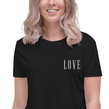 Load image into Gallery viewer, LOVE | Embroidered Crop Tee