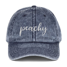 Load image into Gallery viewer, Peachy | Embroidered Vintage Cotton Twill Hat