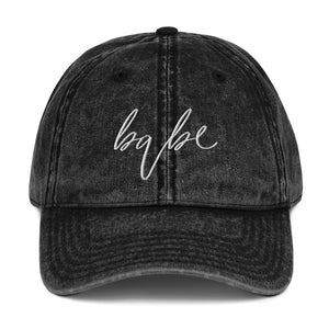 Babe | Embriodered Vintage Cotton Twill Cap