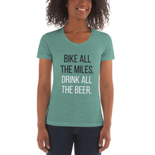 Load image into Gallery viewer, Bike all the miles, Drink all the beer | Crew Neck T-shirt
