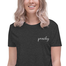 Load image into Gallery viewer, Peachy | Embroidered Crop Tee