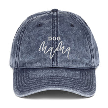 Load image into Gallery viewer, Dog Mama | Embroidered Vintage Cotton Twill Hat