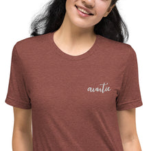Load image into Gallery viewer, Auntie | Embroidered Tri-blend T-Shirt