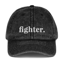 Load image into Gallery viewer, Fighter | Embroidered Vintage Cotton Twill Hat