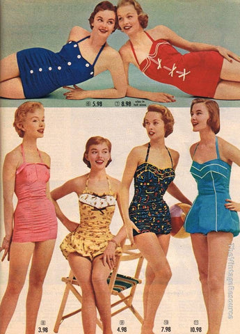 ladies swimwear 1930s