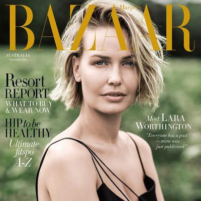 Lara Worthington on the cover of Bazzar