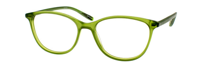 Nina prescription glasses frame in green with temples unfolded