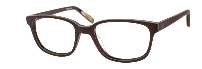 Pepe prescription glasses frame in brown and satin green