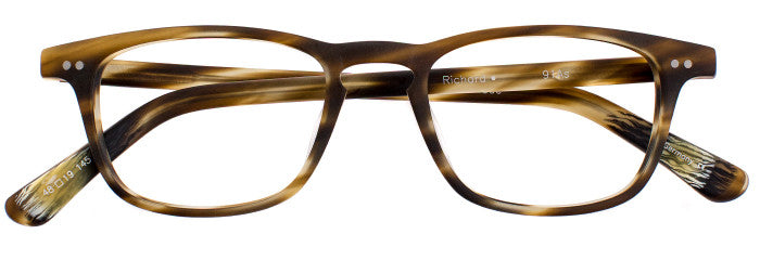 Richard prescription glasses frame in matte dark olive tortoise