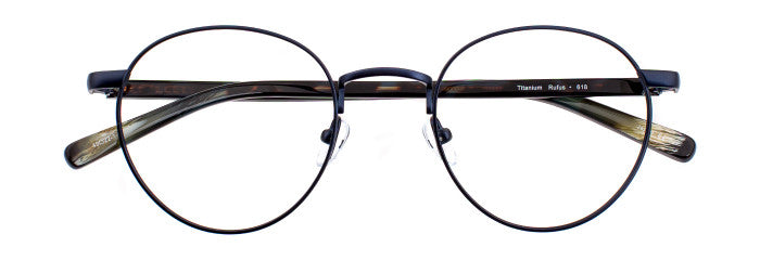 Rufus prescription glasses frame in arctic blue