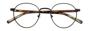 Front view of Rufus prescription glasses frame in black