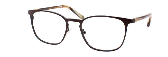 Side view of Serge prescription glasses frame in matte dark khaki