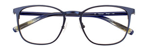 Serge prescription glasses frame in matte dark blue