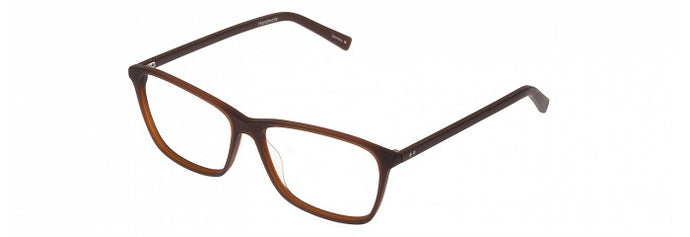 Side view of the Waverly prescription glasses frame in matte auburn