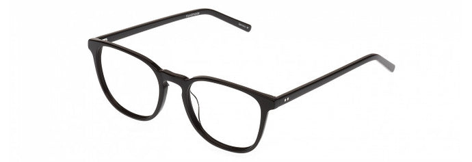 Side view of the Weston prescription glasses frame in black