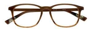 Siro prescription glasses frame in caramel transparent satin