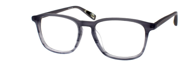 Side view of the Siro prescription glasses frame in smoky grey satin