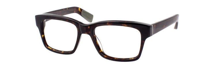 Side view of the Sixtus prescription glasses in dark tortoise