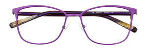 Front view of the Sophia prescription glasses frame in matte lilac
