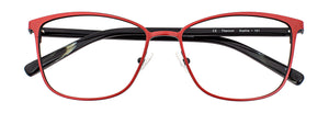 Sophia prescription glasses frame in matte tangerine